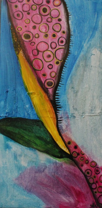 """""""Anisoptera"""" Acrylic and Ink on Canvas (30x70cm)"""