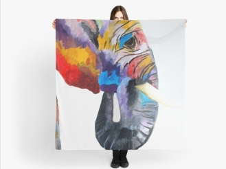 """""""My Brother, The Elephant"""" Scarf"""