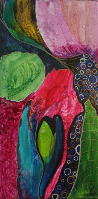 """Stigma"" Acrylic and Ink on Canvas (30x70cm)"